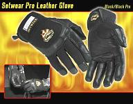 Setwear Pro Leather Glove Black - Click here to have a closer look!